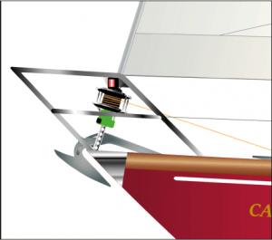 ARPÉGE Bug-Detail - graphische Darstellung des Bugs beim individuellen Yacht-Portrait.