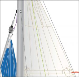BAVARIA Rollfock - graphische Darstellung der Rollfock beim individuellen Yacht-Portrait.